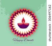 diwali festival celebration... | Shutterstock .eps vector #306497162