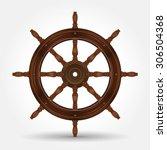 steering wheel for ship vector... | Shutterstock .eps vector #306504368