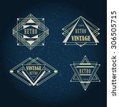 set of art deco vintage antique ... | Shutterstock .eps vector #306505715