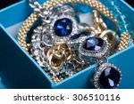 Bracelet With Blue Stones In A...