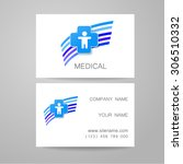 template of medical business... | Shutterstock .eps vector #306510332