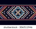 geometric ethnic pattern... | Shutterstock .eps vector #306511946