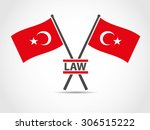 turkey cross flags emblem law   Shutterstock .eps vector #306515222