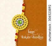 illustration of raksha bandhan... | Shutterstock .eps vector #306523892