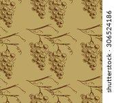 hand draw vector seamless... | Shutterstock .eps vector #306524186