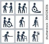 medical care  elder and... | Shutterstock .eps vector #306528206