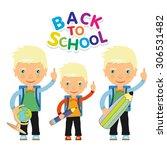 back to school design. vector... | Shutterstock .eps vector #306531482