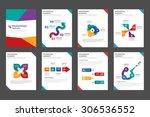 8 multicolor multipurpose... | Shutterstock .eps vector #306536552
