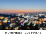 blurred focus of big city in... | Shutterstock . vector #306544646