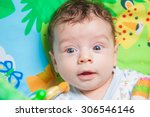 3 months old baby boy playing... | Shutterstock . vector #306546146