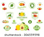 vector vegetables logo  label... | Shutterstock .eps vector #306559598