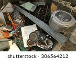 old pans and washing machine... | Shutterstock . vector #306564212