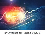 business abstract image with... | Shutterstock . vector #306564278