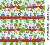 seamless pattern set bright... | Shutterstock .eps vector #306564638