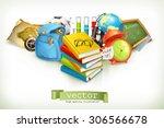 school  vector illustration... | Shutterstock .eps vector #306566678