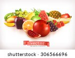 harvest juicy and ripe fruit ... | Shutterstock .eps vector #306566696