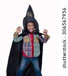 Portrait Of Little Boy Wearing...
