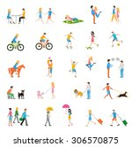 group of people on the street....   Shutterstock .eps vector #306570875