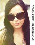 beautiful girl portrait... | Shutterstock . vector #306578432