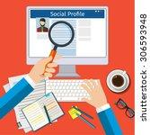 search social profile. screen... | Shutterstock .eps vector #306593948