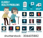 elderly health problems ... | Shutterstock .eps vector #306605882