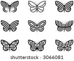 butterflies | Shutterstock .eps vector #3066081
