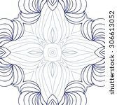 circular   pattern of delicate... | Shutterstock . vector #306613052