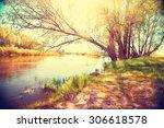 Autumn Landscape With A River....