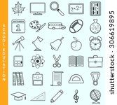 thin line education vector... | Shutterstock .eps vector #306619895