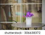 forged elegant chairs on the... | Shutterstock . vector #306638372