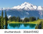 Image Lake And Glacier Peak In...