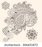 floral ornament | Shutterstock .eps vector #306651872