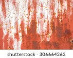 surface of rusty iron with... | Shutterstock . vector #306664262
