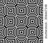 seamless geometric black and... | Shutterstock . vector #306667148