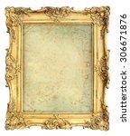 golden baroque style picture... | Shutterstock . vector #306671876