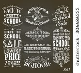 back to school sale and party... | Shutterstock .eps vector #306686222