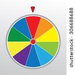 vector illustration of a wheel...   Shutterstock .eps vector #306688688