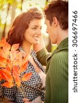 close up pretty girl and guy... | Shutterstock . vector #306697466
