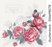 Botanical Floral Card In...
