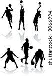 silhouettes of basketball...   Shutterstock .eps vector #3066994