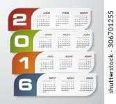 simple design calendar 2016...   Shutterstock .eps vector #306701255