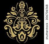 damask vector floral pattern... | Shutterstock .eps vector #306706568