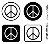 peace sign   vector icon | Shutterstock .eps vector #306708002