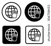 internet     vector icon | Shutterstock .eps vector #306708452