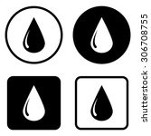 drop   vector icon | Shutterstock .eps vector #306708755