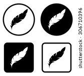 feather     vector icon | Shutterstock .eps vector #306710396