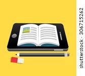 electronic book concept....   Shutterstock .eps vector #306715262