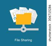 file sharing concept.  | Shutterstock .eps vector #306715286