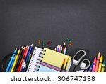 notebook  exercise book ... | Shutterstock . vector #306747188