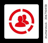 demography diagram vector icon. ... | Shutterstock .eps vector #306750458